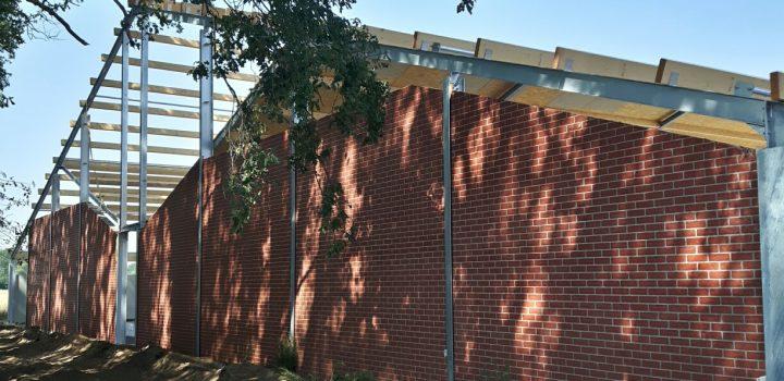 Betonpanelen met baksteenmotief Rustiek Rood